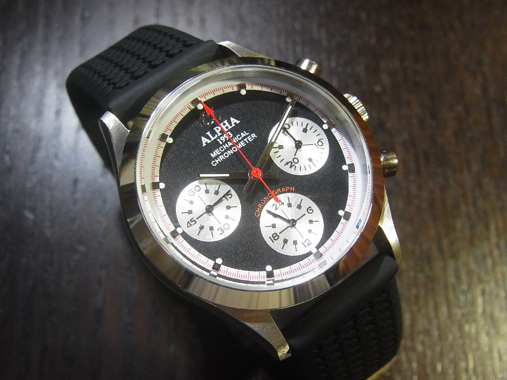 Alpha Watch Chronograph Parts Diagram Related Images Pre Daytona Smooth Bezel Paul Newman Panda Dial Stainless Steel Mechanical On Tire Tread Band