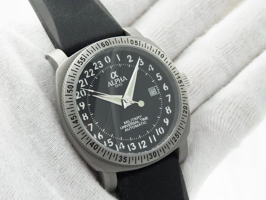 with watches dial shop watch sale info navy leather automatic black mm hour russian vmf