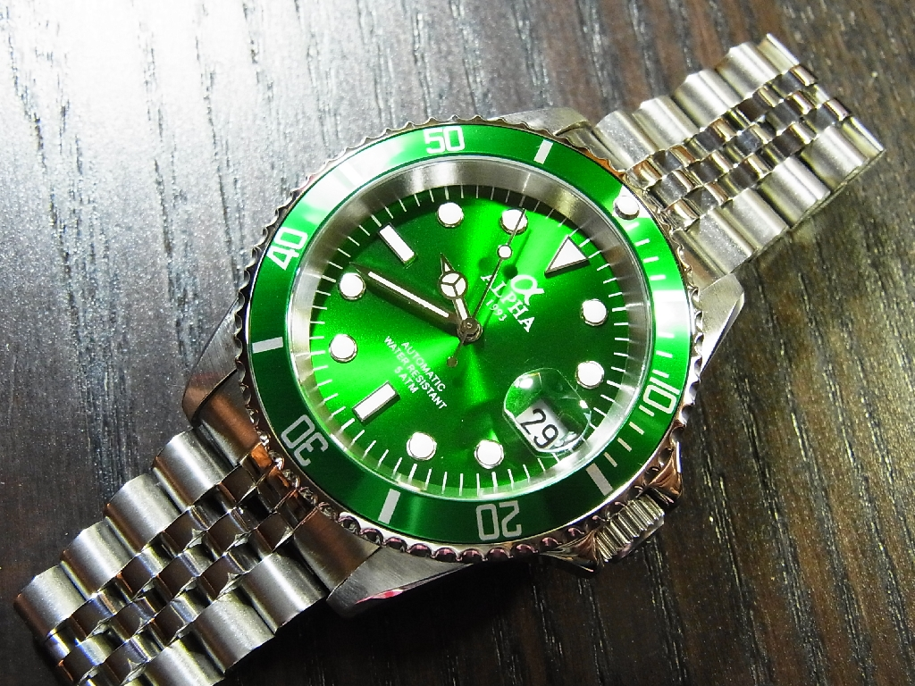 review face green watch watches submariner rolex oyster diving perpetual
